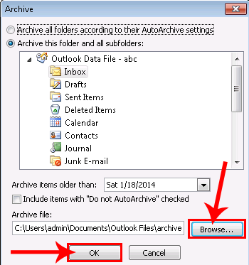 oft template outlook 2010