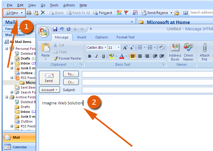 email template outlook 2007