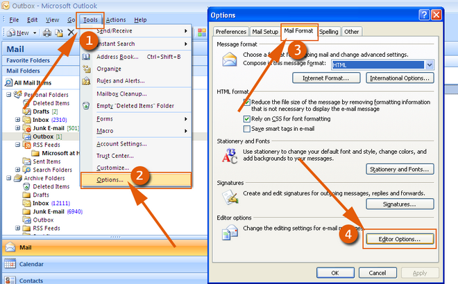 how to create hyperlink in outlook