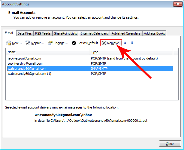 How to Convert IMAP account to POP3 Account ?
