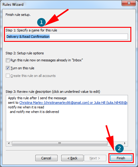 how to add a read receipt in outlook